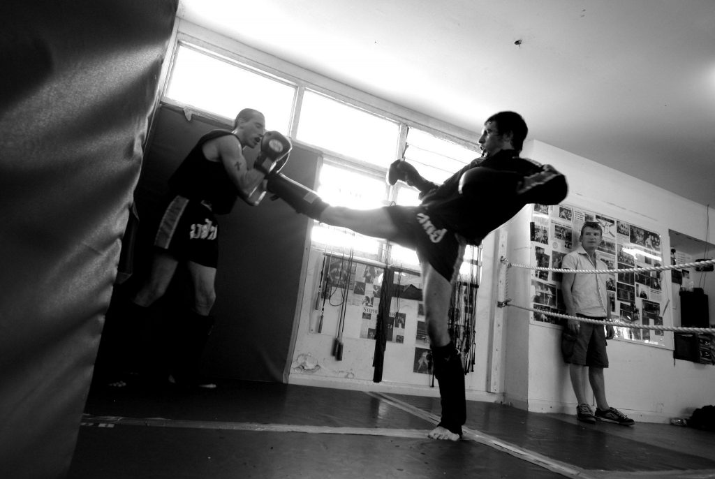 Kickboxing training