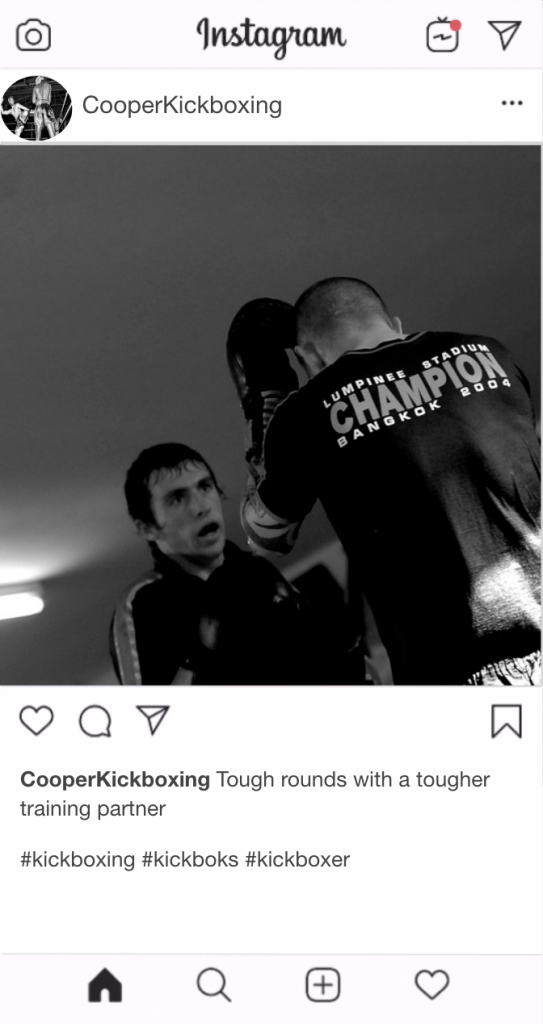 "Kickboxing Instagram Kickboxing Caption - ""Tough rounds with a tougher training partner"""