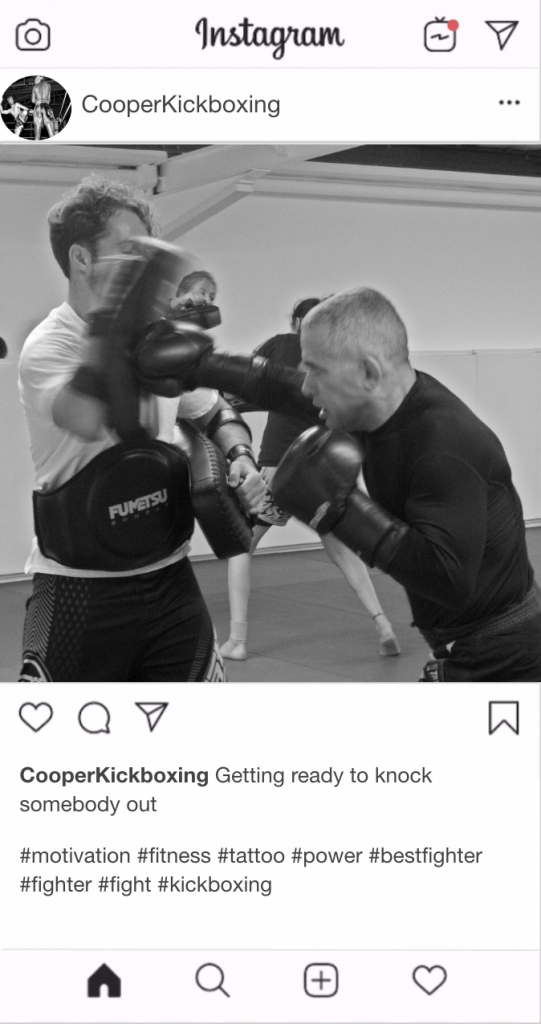 "Kickboxing Instagram Kickboxing Caption - ""Getting ready to knock somebody out"""