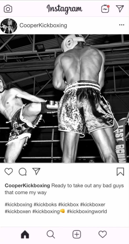 "Kickboxing Instagram Kickboxing Caption - ""Ready to take out any bad guys that come my way"""