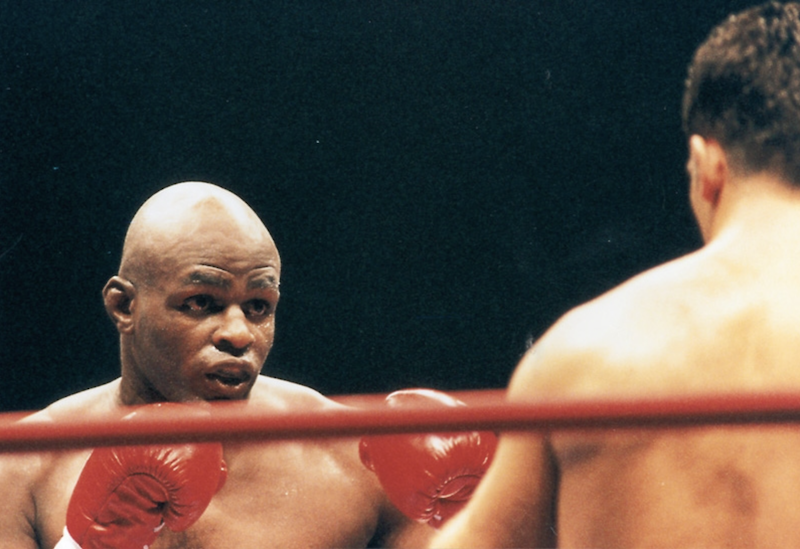 Ernesto Hoost in the fighting ring.