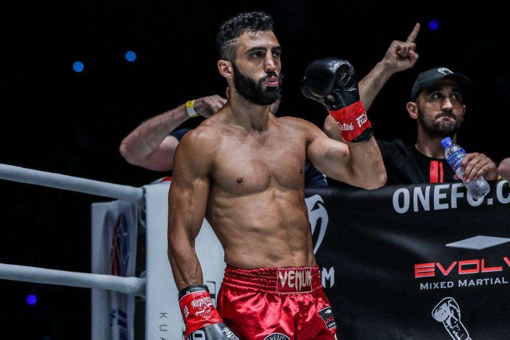 Giorgio Petrosyan in the fighting ring.