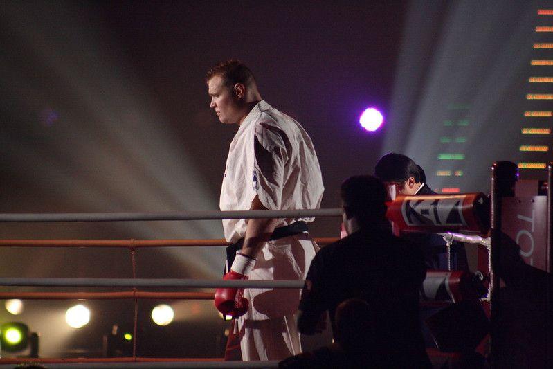 Semmy Schilt in the fighting ring.